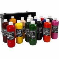 Textil Color Farben, Sortiment 15x500ml sortiert