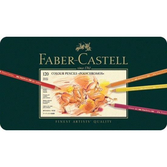 Faber-Castell Künstlerfarbstifte - 120 Künstlerfarbstifte POLYCHROMOS®, farbig sortiert im Metalletui
