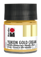 Yukon-Gold Metallic-Effect-Creme, Marabu, Metallic-Gold, 50ml