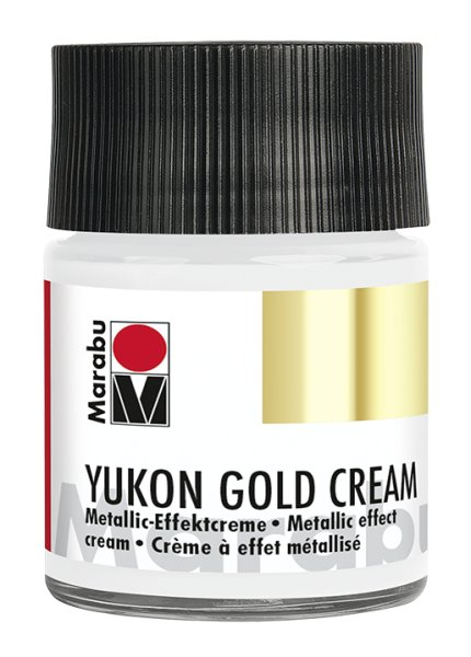 Yukon-Gold Metallic-Effect-Creme, Marabu, Metallic-Silber, 50ml