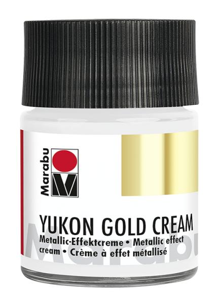 Yukon-Gold Metallic-Effect-Creme, Marabu, Metallic-Silber, 50ml