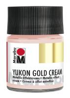 Yukon-Gold Metallic-Effect-Creme, Marabu, Rose Gold, 50ml