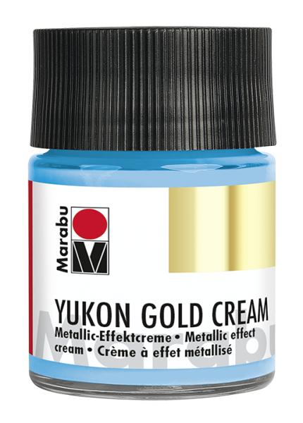 Yukon-Gold Metallic-Effect-Creme, Marabu, Metallic Hellblau, 50ml