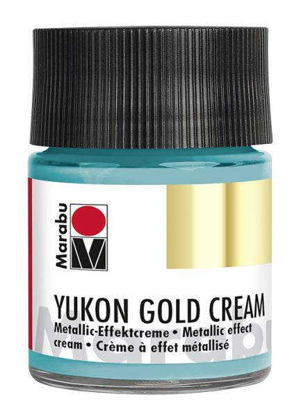 Yukon-Gold Metallic-Effect-Creme, Marabu, Metallic Türkis, 50ml