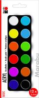 Marabu Acrylfarben Set BASIC, 12 x 3,5 ml