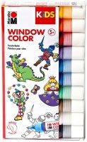 Marabu KiDS Window Color 10er-Sortierung (10x25ml)