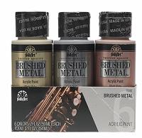 FolkArt ® Paint set specialty 6 colors Brushed Metal