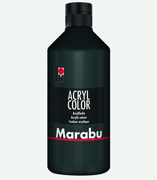Marabu Acryl Color Schwarz 073, 500 ml