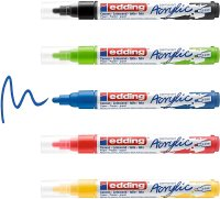 Edding Acrylmarker medium basic 5er-Set