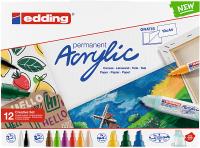 Edding Acrylmarker/12S Kreativ Set basic 12 Farben Set
