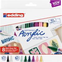 Edding Acrylmarker/8S Starter set nordic 8 Farben Set