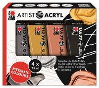 "Marabu Artist Acryl 4er-Sortierung ""Metallic..."