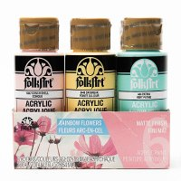 FolkArt • Paint set acrylic 6 colors Rainbow flower