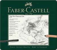 Faber Castell Pitt Charcoal Set, 24er Metalletui