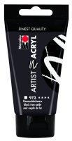 Marabu Artist Acryl, Eisenoxidschwarz 973, 75 ml