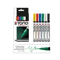 Marabu YONO Acryl-Marker Basic Set, 6 x 0,5-1,5 mm