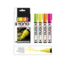 Marabu YONO Acryl-Marker Set NEON, 4 x 1,5-3 mm