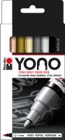 Marabu YONO Acryl-Marker Set METAL, 4 x 1,5-3 mm