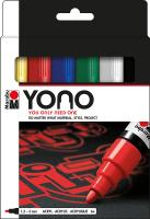Marabu YONO Acryl-Marker Basic Set, 6 x 1,5-3 mm