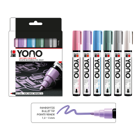 Marabu YONO Acryl-Marker Set PASTEL, 6 x 1,5-3 mm