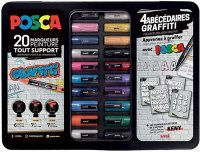 "POSCA Pigmentmarker ""Graffiti"", 20er Metallbox"