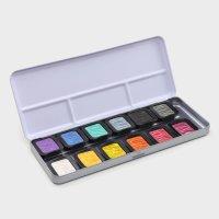 FINETEC Perlglanzfarben in 12 er Metallkasten -  -...