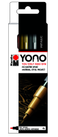 Marabu YONO Marker Set METAL, 4 x 0,5-1,5 mm