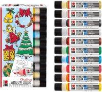 Marabu Window Color XMAS-Set-Sortierung 10x25ml